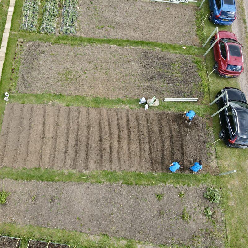 The Hope Centre - Allotment - Drone - arial photograph - northampton - JMH PhotoStories