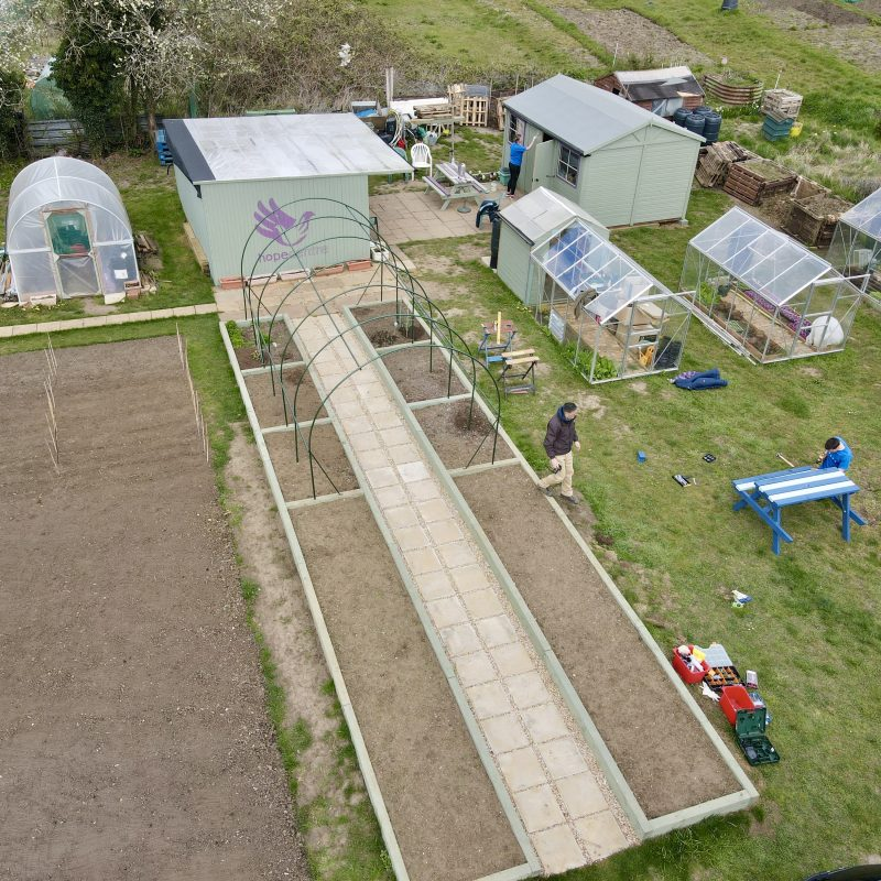 The Hope Centre - Allotment - Drone - Norhampton - JMH PhotoStories
